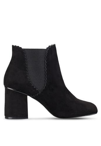 Dorothy Perkins black Black Anna Scallop Edge Boots DO816SH77TTQMY_1
