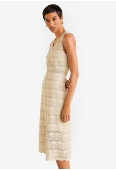 f2fef946cdc Mango beige Openwork Detail Dress C6C1EAA479A4AEGS 1