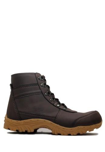 Cut Engineer brown Cut Engineer Safety Iron Zipper High Quality Leather Dark Brown CU226SH51EYUID_1