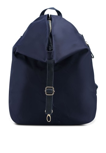 NUVEAU blue and navy Nylon Backpack 90686AC6786368GS_1