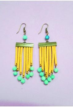 Yellow Fringe Earrings