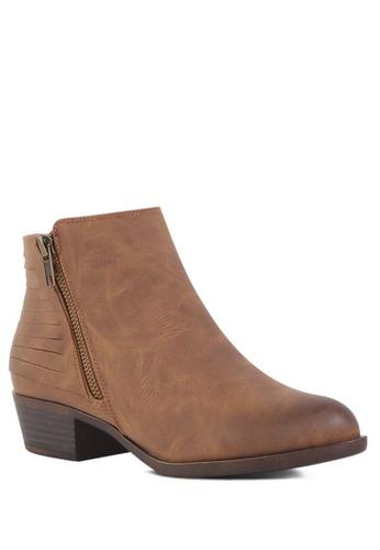 London Rag brown Zipper Ankle Boots A7F93SH57E8572GS_1