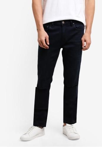 Hollister blue Super Skinny Dark Jeans HO422AA0RCSNMY_1