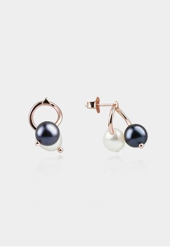 monojewelry TWISTED SILVER HOOP EARRINGS (BLACK) 686DAACB7EF72DGS_1