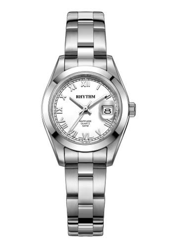 Rhythm RQ1614S 01 - Jam Tangan Wanita - Stainless - Silver White