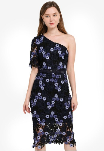 CHI CHI LONDON navy Lenka Dress E40AAAAFAFBF6EGS_1