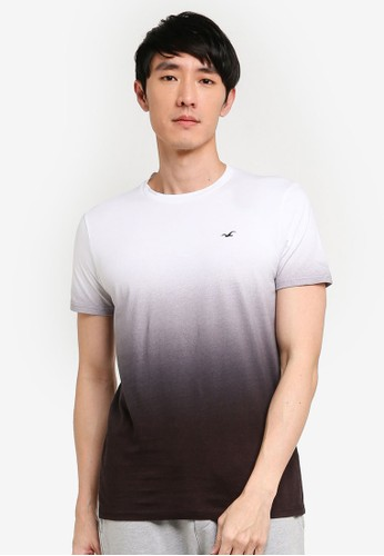 Hollister black Ombre Crew Neck T-Shirt 17252AAEED217EGS_1