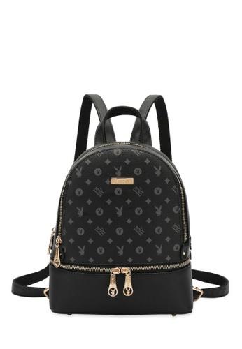PLAYBOY BUNNY black Logo Monogram Backpack 40BD7ACA4E7973GS_1