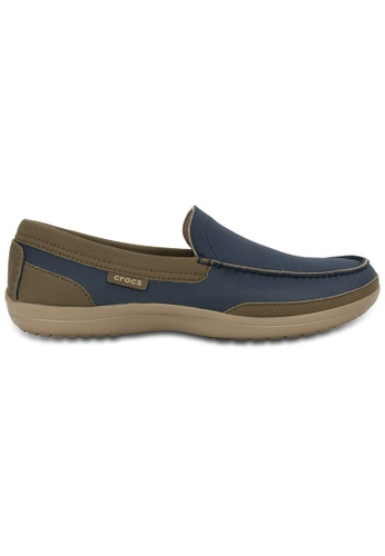 Crocs beige and navy Men's Wrap ColorLite™ Loafer CR883SH35KNCMY_1