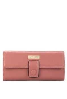 Textured Bi-Fold Multi-Compartment Long Ladies Wallet