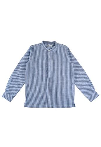 KIDS ICON blue KIDS ICON - Kemeja Lengan Panjang Anak Laki-laki DYL 04-14 Tahun With Printing Detail - DL500200200 D5B33KA82AA312GS_1