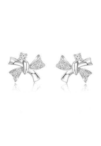 MaBelle silver Royal Complex 9K/375 White Gold Diamond Earrings 4048FAC6EBFF5EGS_1