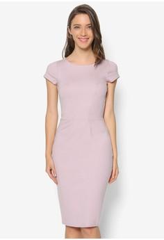 Bodycon Ponti Cap Sleeve Dress
