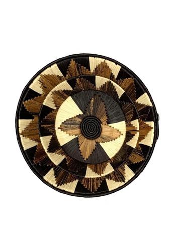 Propstation Woven Banana Bark Round Wall Art Basket Decor Jumbo Brown - BB01 93EEAHLF7B194BGS_1