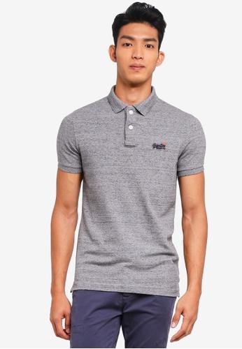 Superdry grey Classic Pique Polo Shirt 1C57EAAD79090DGS_1