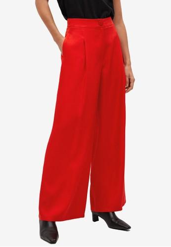Mango red Dart High Waist Trousers B3EE7AA1ACACE2GS_1