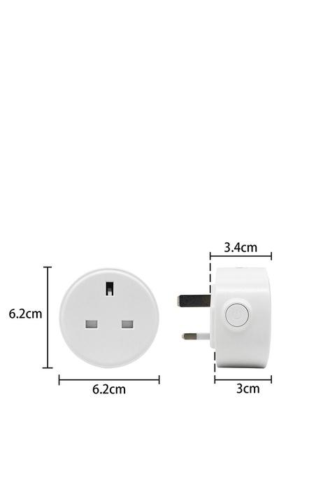 UKGPro UKG智能WiFi無線插座,新型智能插頭智慧插座外置智能插頭無線智能家居排程萬能插英式插頭遠端遙控開關電視風扇抽濕機語音傳統手動均可,英國BS1363安全標準Smart Plug(USP-M8)