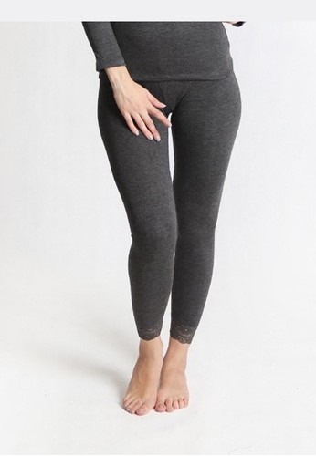 Cynthia grey Thermal Underwear Artificial Wool and Lace Warm Winter Long Johns Bottom-Darkgrey 37BD8AADF24FA4GS_1