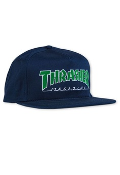 dbe12a92b8e Thrasher blue Thrasher Outlined Snapback Navy Blue CAD64ACEE8D519GS 1