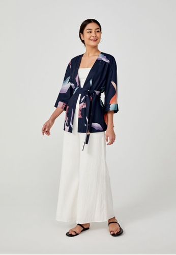 Love, Bonito blue Eliana Sash Tie Kimono in Floral Drift AED67AAAADDA9CGS_1
