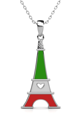 Her Jewellery silver Union Tower Pendant (Italy) - Made with Premium grade crystals from Austria 027CDACA1F6497GS_1