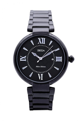 ZECA black and white Zeca Watches Ladies Fashion Stainless Steel Analog - 100L Black CCBB7ACDEB4C69GS_1