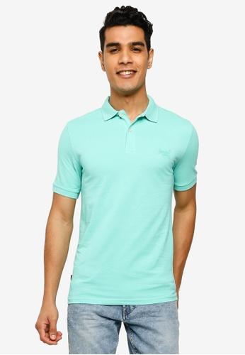 SUPERDRY blue Classic Micro Lite Short Sleeves Pique Polo Shirt BCB36AA1490CBFGS_1