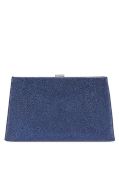 【ZALORA】 Metallic Effect Clutch Bag