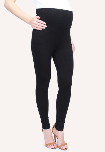 9months Maternity Black Full Panel Maternity Leggings C75EBAA08EBB32GS_1