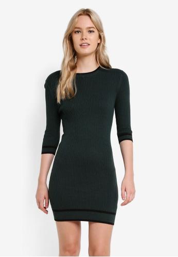 Something Borrowed green Stripe Trim Bodycon Dress A1A33ZZA29CAF2GS_1
