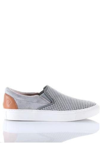 PRODUIT PARFAIT grey Punch  Slip-On Sneaker 140C4SH2BA4673GS_1