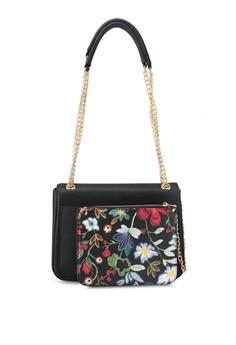 Buy bags handbags online zalora malaysia zalora black shoulder bag with floral pouch bb05bac1087813gs1 stopboris Choice Image