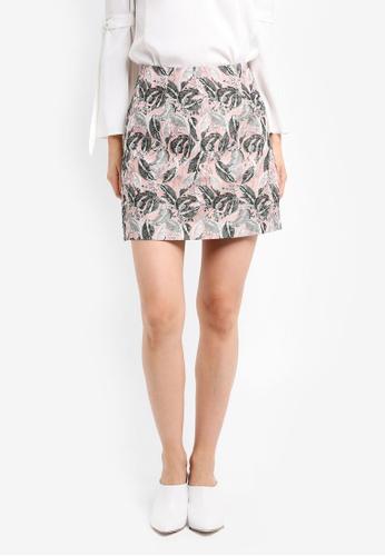 ZALORA pink Studio A-Line Skirt D706FAA86138F8GS_1