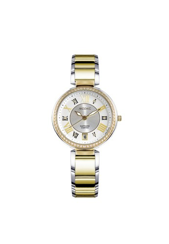 Mozaic gold and silver Mozaic 80006 CG-WHITE Jam Tangan Wanita Stainless Steel 1BB0FAC281676EGS_1