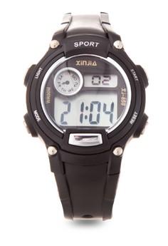 Kid's Black Digital Waterproof Sports Watch XJ-859