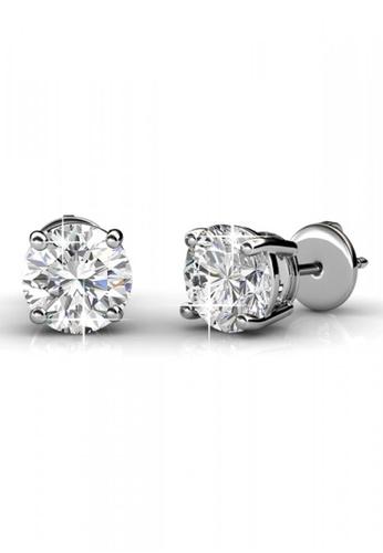 Her Jewellery silver Crystal Stud Earrings - Licensed Genuine Crystals from Swarovski® HE581AC0RCD5MY_1