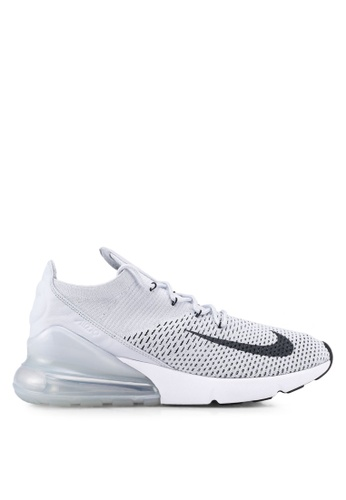 the latest 322bb 69a99 Nike black and grey Men s Nike Air Max 270 Flyknit Shoes DE727SH4E39B3EGS 1