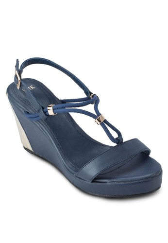 多esprit官網帶繞踝楔型跟涼鞋, 女鞋, 楔形涼鞋