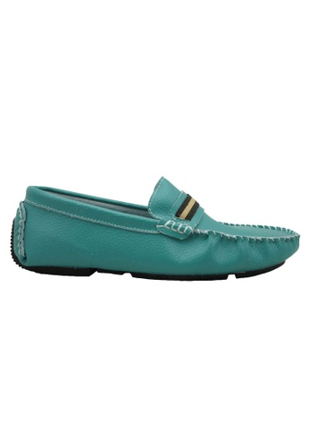 midzone green SCORPION Leather Boat Shoes SC378SH90OTHMY_1