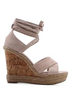 separation shoes 0ee7d 3bc50 TOPSHOP beige Winona Wedges BB246SHF271C69GS 1