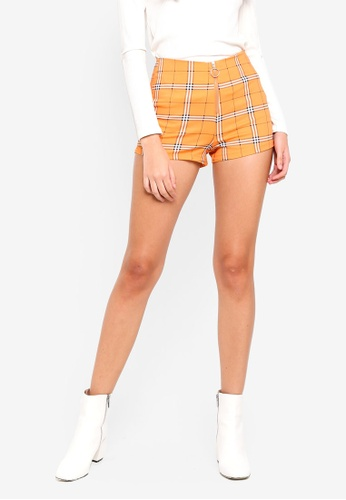 Factorie yellow and multi Zip Front Shorts E87FCAAF92B41BGS_1
