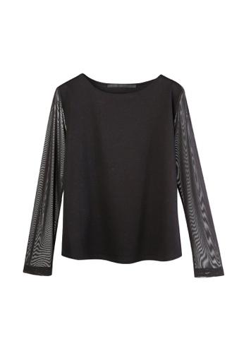 Giordano Ladies black Double Mesh Top D1617AABC630EBGS_1