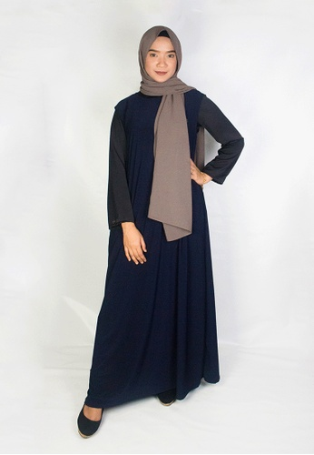 Zaryluq blue and navy Inner Dress in Prussian Blue 714B0AA6A3C81AGS_1