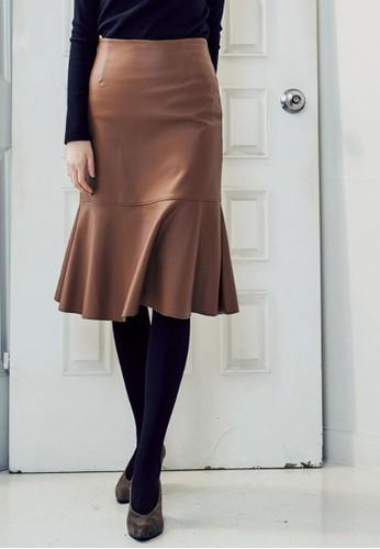 美人魚皮裙, 服飾, salon esprit及膝裙