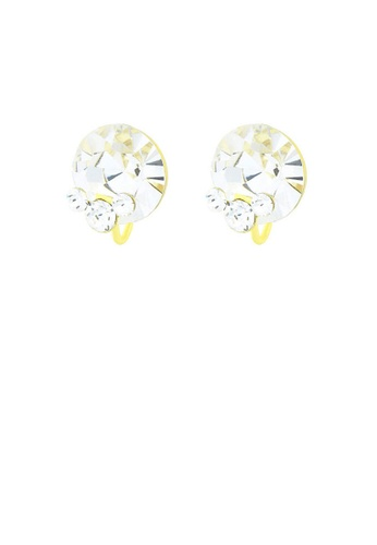 Glamorousky silver Glistening Round Earrings with Silver Austrian Element Crystal A57C9ACC36EEA9GS_1