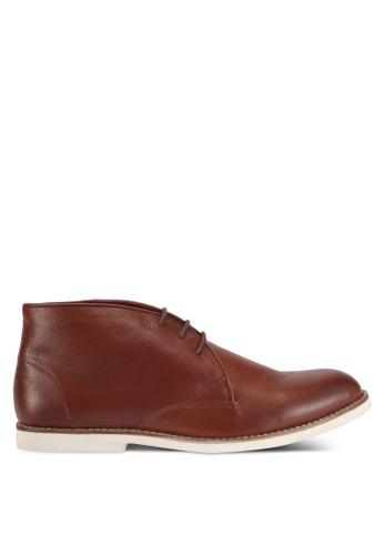 ACUTO brown Leather Chukka Boots AC283SH0SL6HMY_1