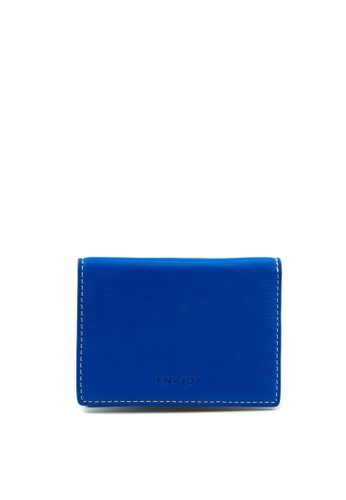 Enjoybag blue Kobe Calf Leather Card Holder 857FDAC31EF9D1GS_1
