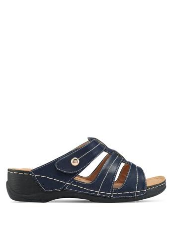Bata blue Velcro Strap Sandals BF327SHE3CC5C4GS_1