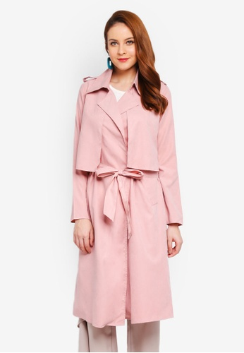 Lubna pink Boyfriend Trench 21A63AA2D2BFD7GS_1