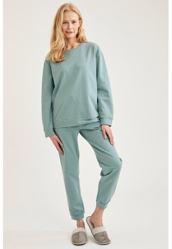 DeFacto green Woman Homewear Knitted Bottoms B9221AA3B39F0BGS_1